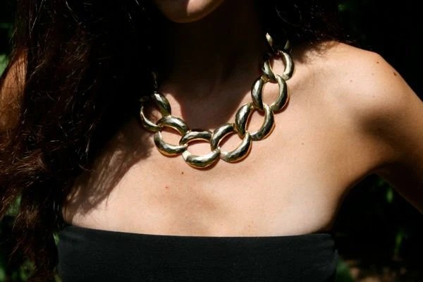 Large vintage chain link necklace
