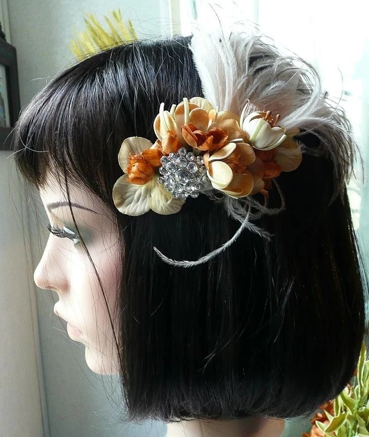 THE GATSBY VINTAGE INSPIRED BRIDAL Fascinator Hair Clip