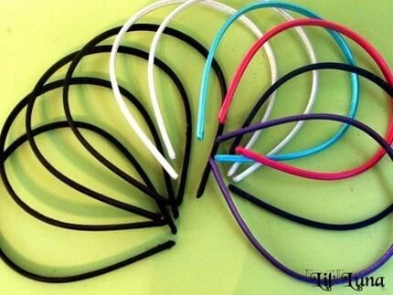 LOT of 10 Silk Headbands