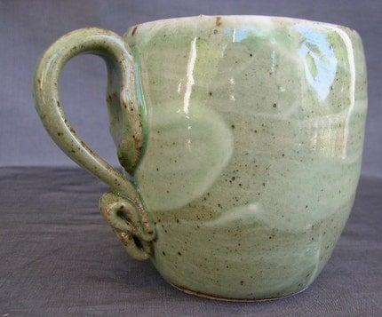 Big Green and Blue Mug