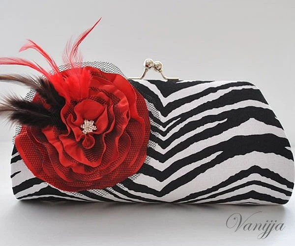Party Animal in Black..Large size Clutch