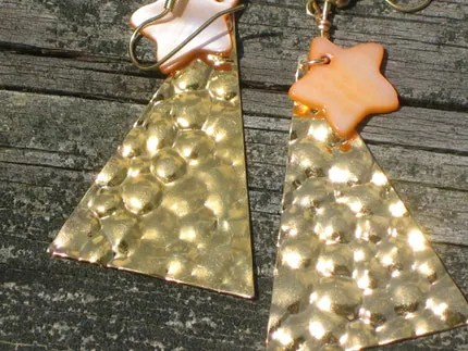 Golden Starlight Earrings
