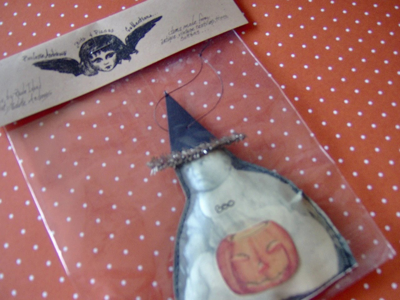 HalloWeeN ORnaMenT Paulette Andrews Baby Photograph Collage CSST