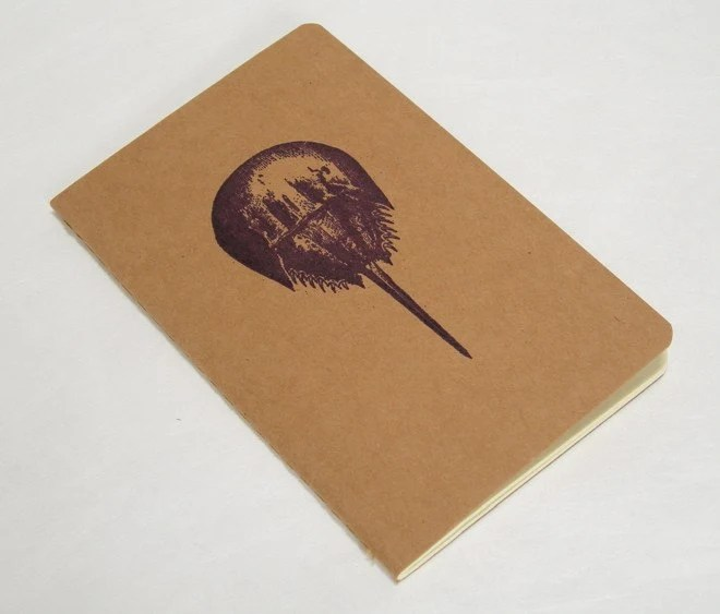 Purple Horseshoe Crab Moleskine - Gocco Printed - Lined