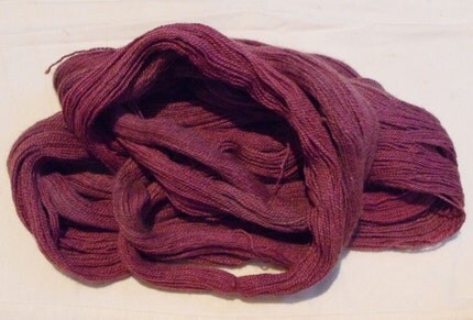 Qiviut Angora Naturally Hand-Dyed Pokeberry Luxury Yarn 640yds