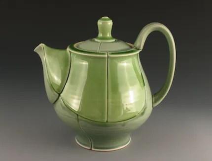 Green Curve Teapot
