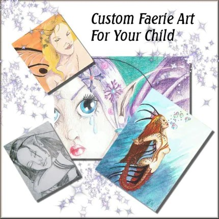 Custom Faerie Artwork Painting or Drawing ORIGINAL for your child  friend or yourself