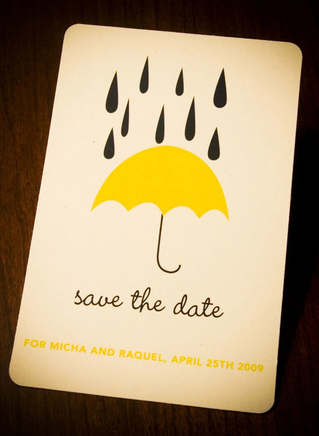 Rainy Day Save the Date