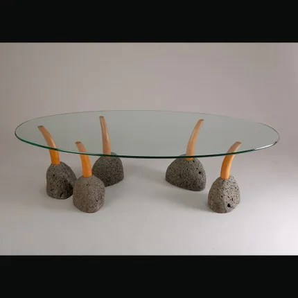 Amazing!  Wood, stone, glass.  This is a perfect mix of hand crafted beauty and portable simplicity.