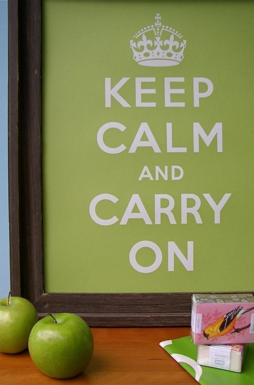 SOUR APPLE Keep Calm and Carry On 16 x 20