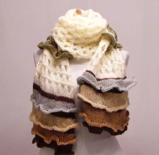 Haute Couture Scarf by Trendyknitting