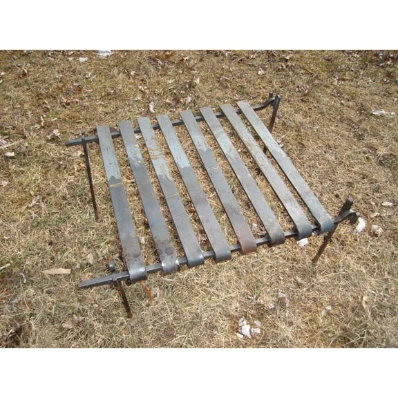 Iron Collapsable Fire Grate for outdoor cooking, Blacksmith Made
