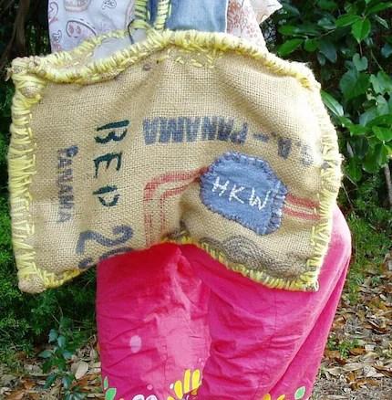 Burlap  Handbag