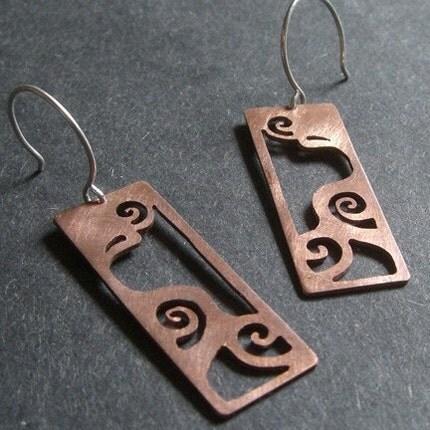 Copper Windy Mountain Earrings