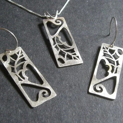 Sterling Silver Scrub Oak Set