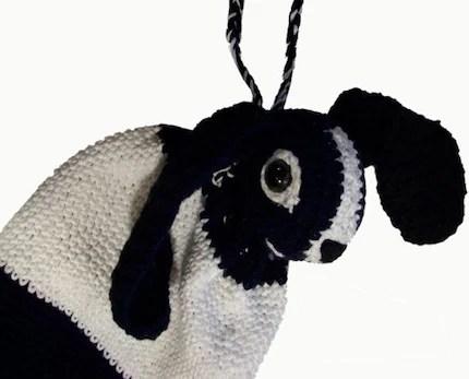 Crochet Powderblue Tang Drawstring Bag