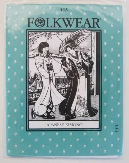 Folkwear pattern for Japanese kimono
