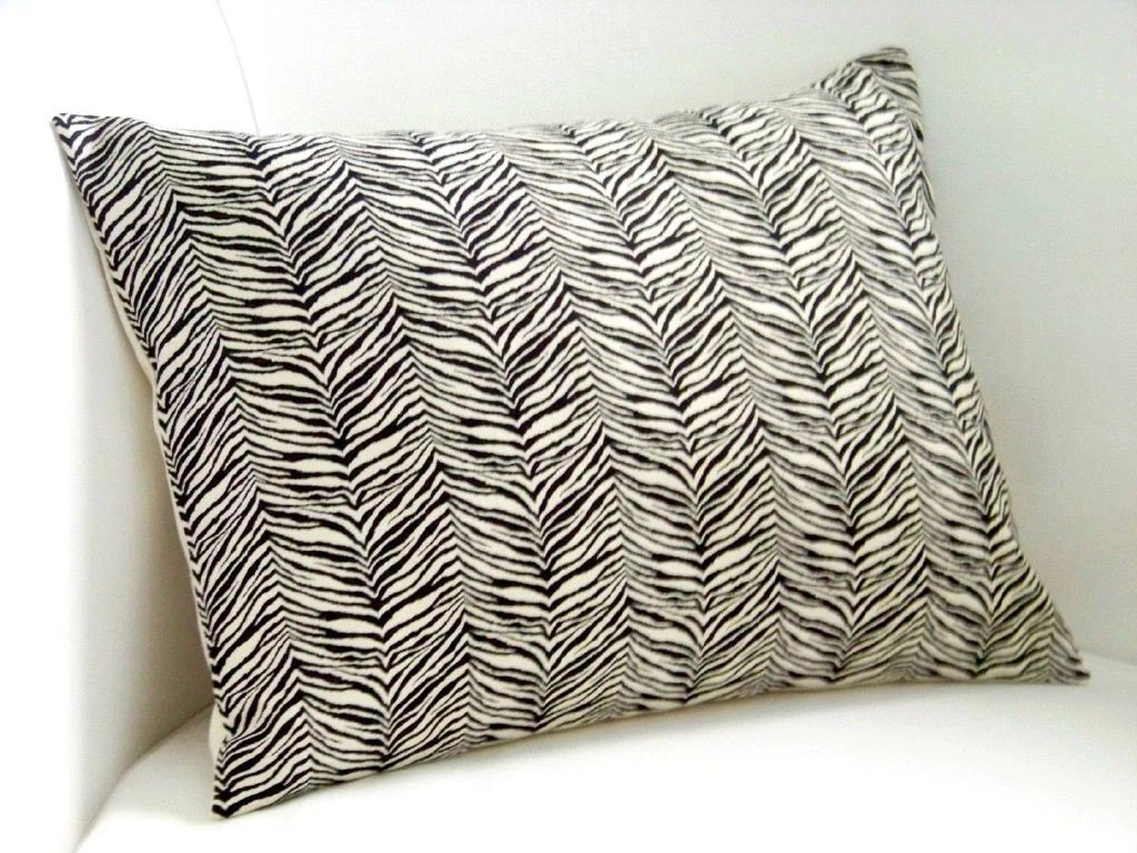 Little Zebra Print Pillow Cover 12 x 16 Inch