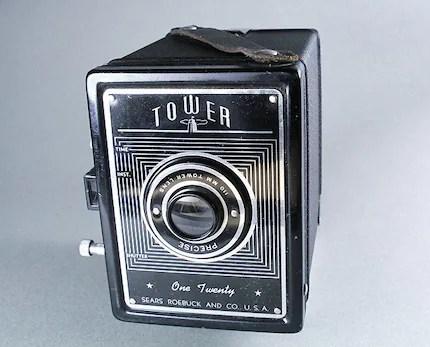 Toy Camera Tower 120 Film Original Box Primo
