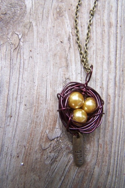 3. Grow With Me Golden Nest Necklace