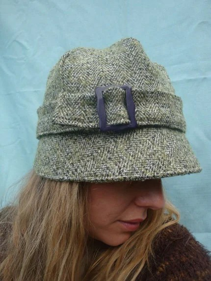 seller moaningminnie has a lot of adorable hats, like this tweed cloche for $42.50.