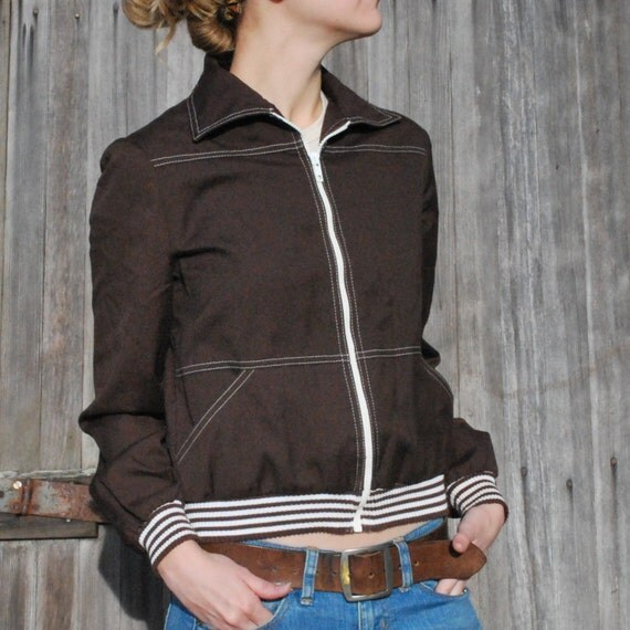 Zip Up Brown Jacket