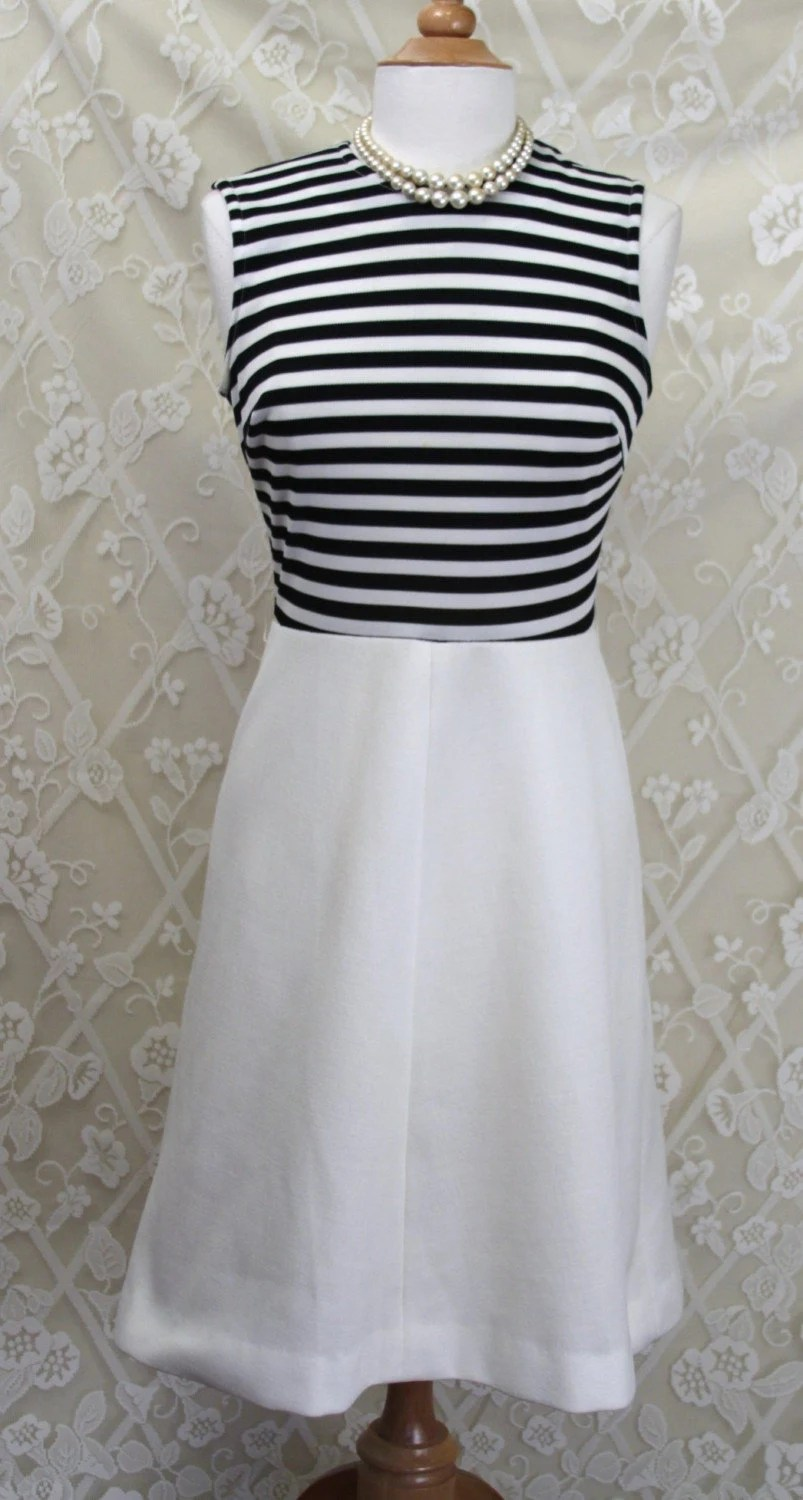 Black and White Sailor Dress