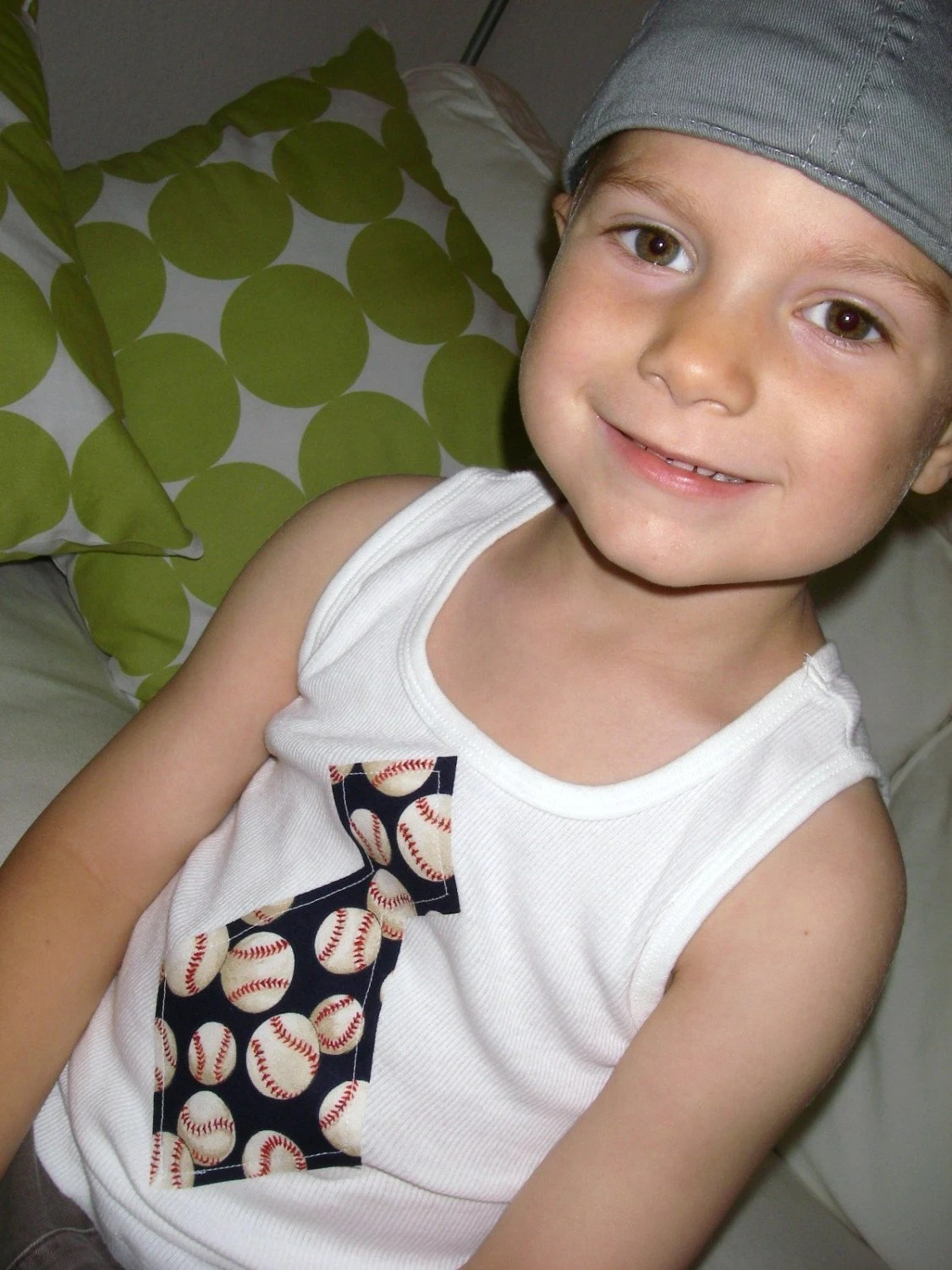 Boys aka lil dude blue baseball print tie tank or tee size 2/3T, 6-7, 6-8M boys
