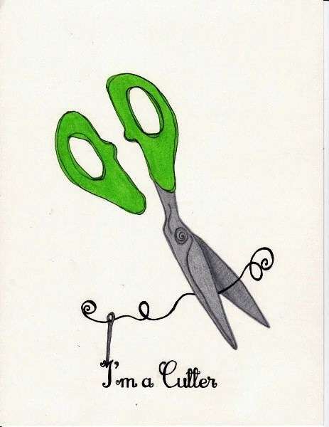 I'm a Cutter, Sewing Crafting Shears Illustration
