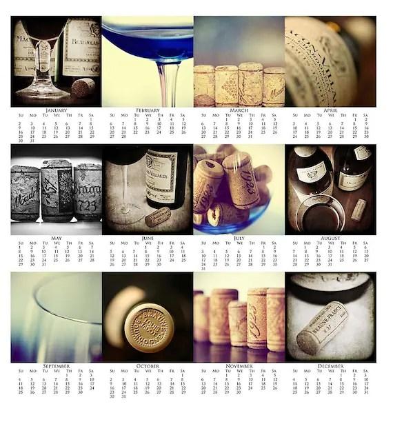 Calendar Sale - 2011 Fine Art Drink Calendar - Year In Wine Photography Prints - 4x6 - Foodie