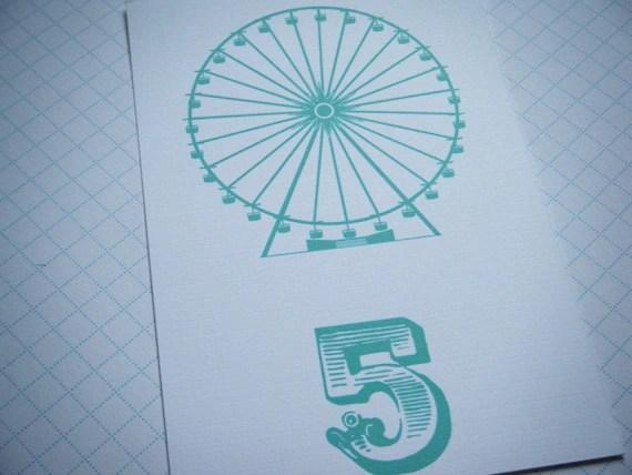 Ferris Wheel Table Numbers