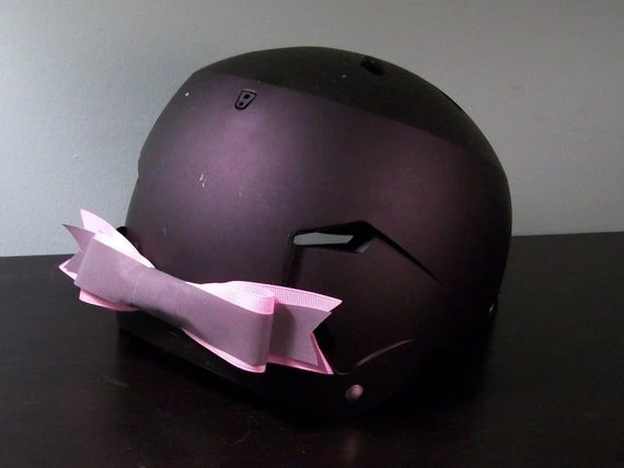 Pink Reflective Bike Helmet Bow