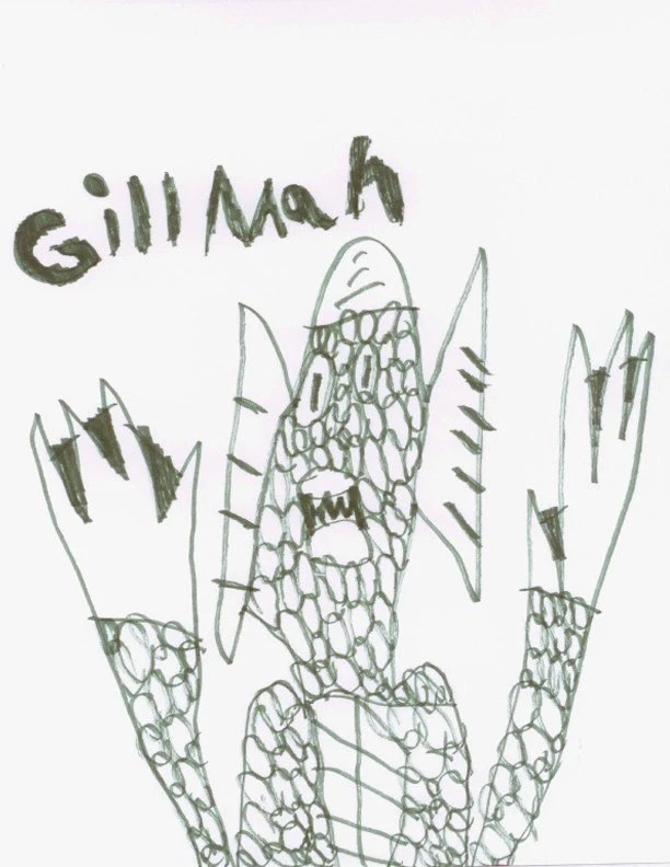 Gill-man By Aidan - Print (Allow 6 to 8 weeks for shipping)