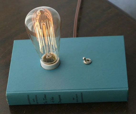 Book Lamp with Edison Bulb