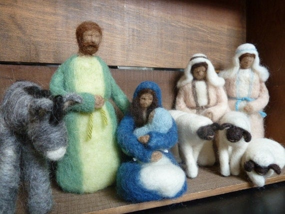 Felted Wool Nativity