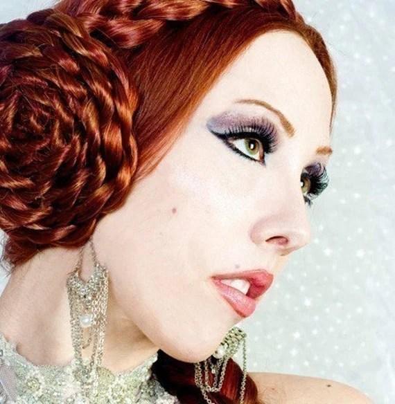 Large Rosette Barrette wig over 20 colors hair extension clip
