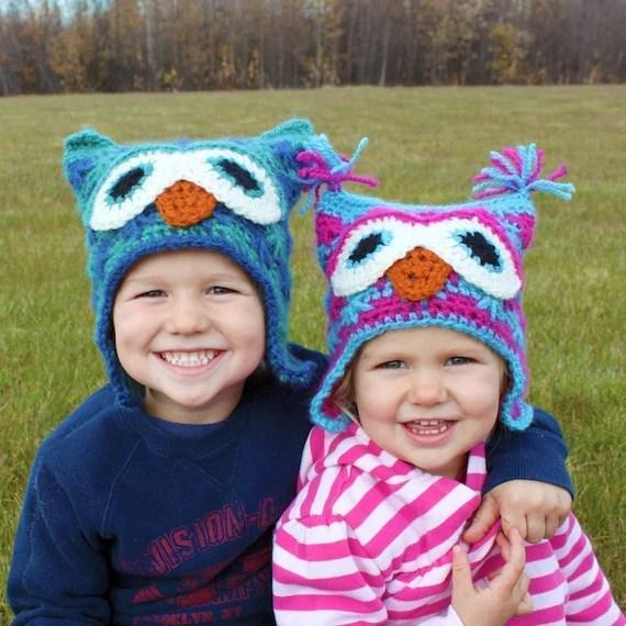 Killian's Owl Hat PDF Crochet Pattern (Sizes Newborn to Adult)