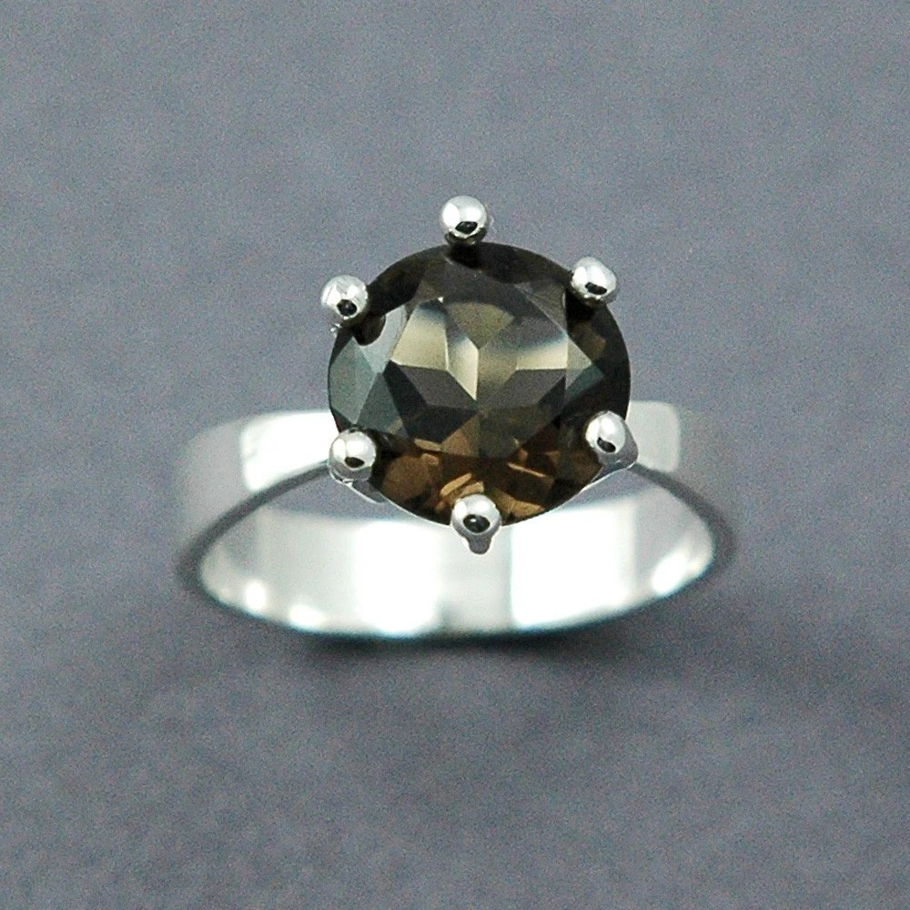 MADE TO ORDER Smoky Topaz Solitaire Ring