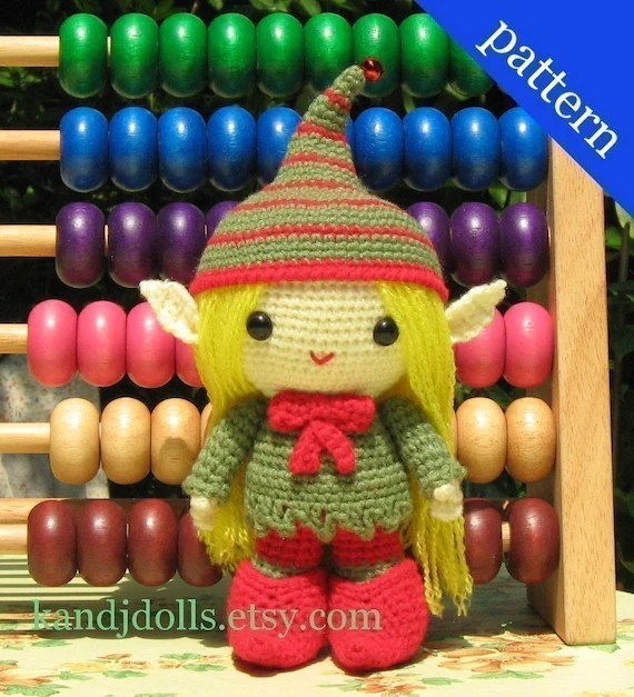 Elfy the Elf, PDF Amigurumi crochet pattern