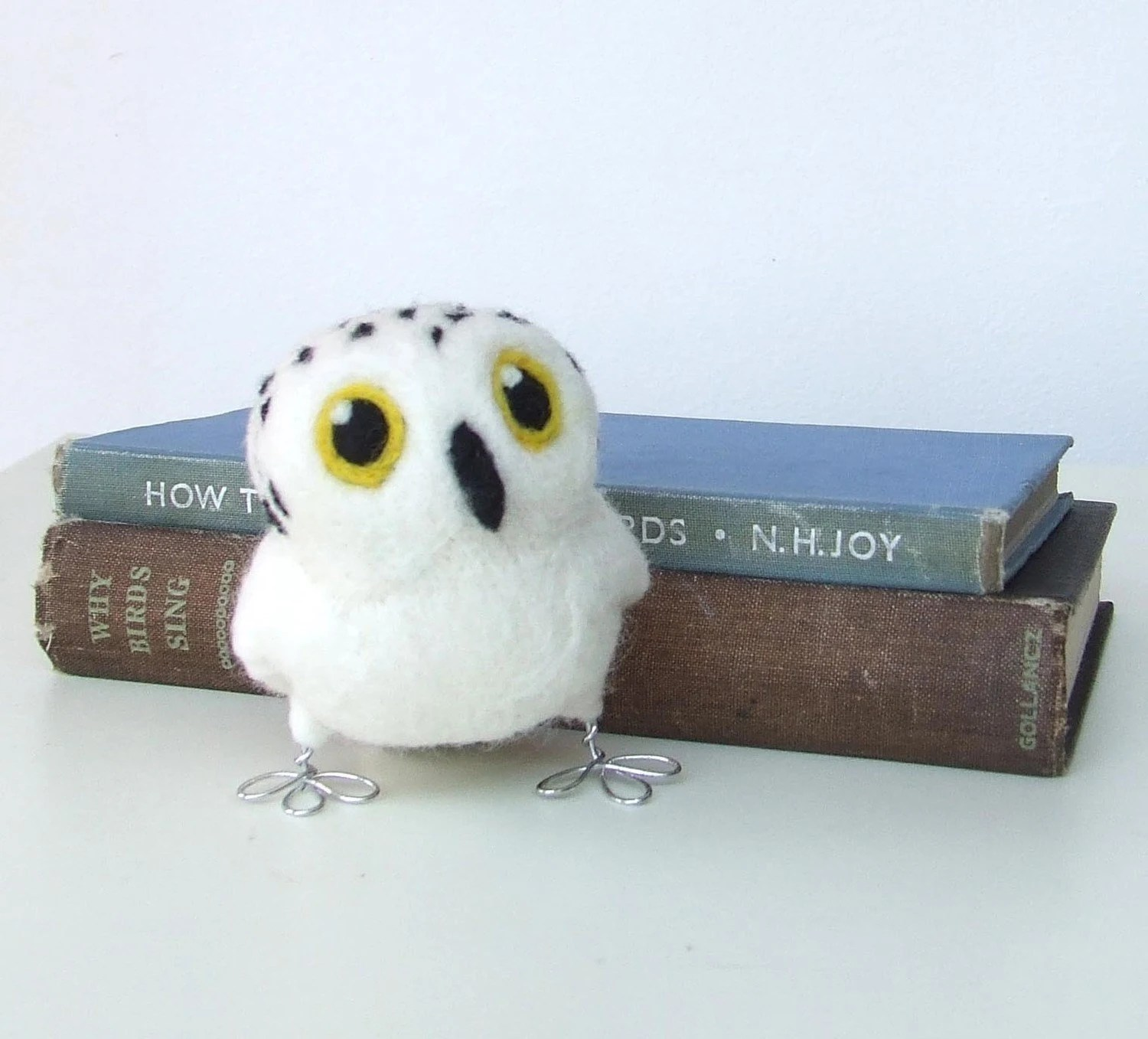 Tweet Hoot  Little Snowy Owl in Natural White
