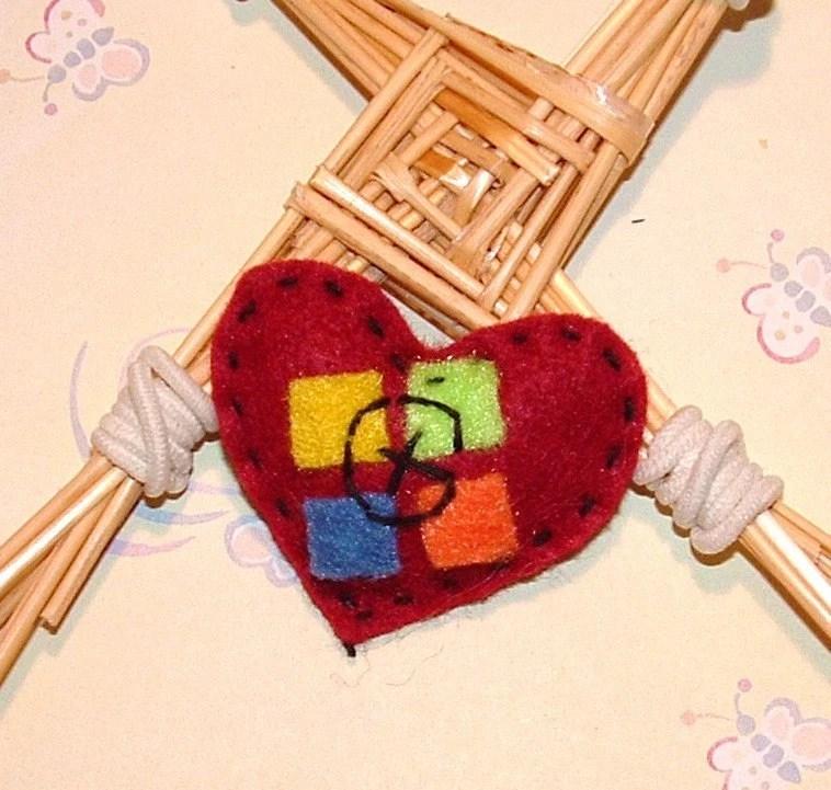 I Love Geocaching felt Valentines heart tokens geo swag