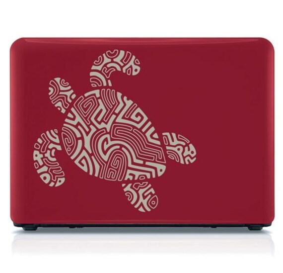 Tribal Sea Turtle - vinyl decal wall sticker