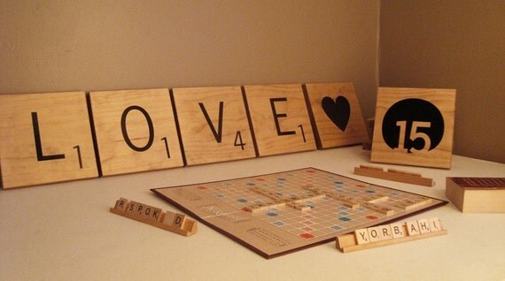 Giant Customized Wooden Letter Tiles - 6 Letters