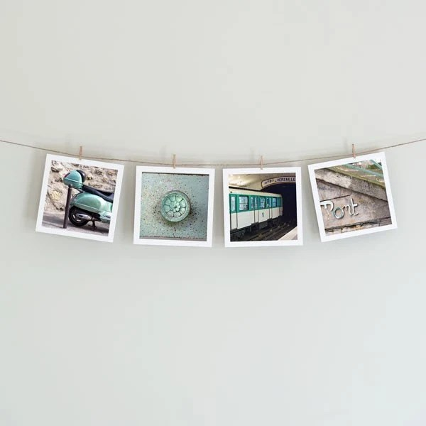 Paris in Mint - Collection of Four 5x5 Photos