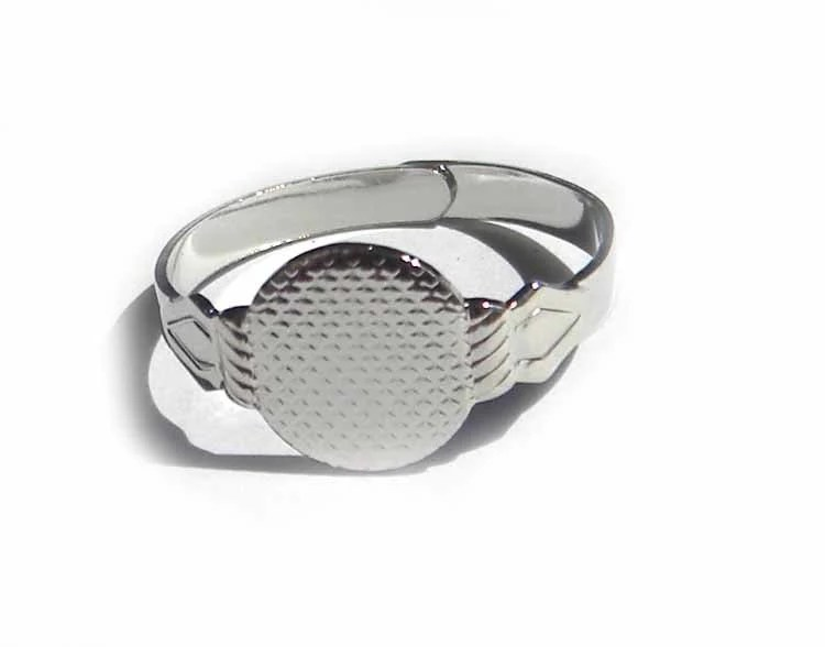 12 Adjustable Silver Plated Rings