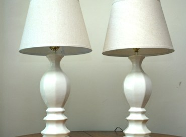 the estate of things chooses vintage ceramic lamps