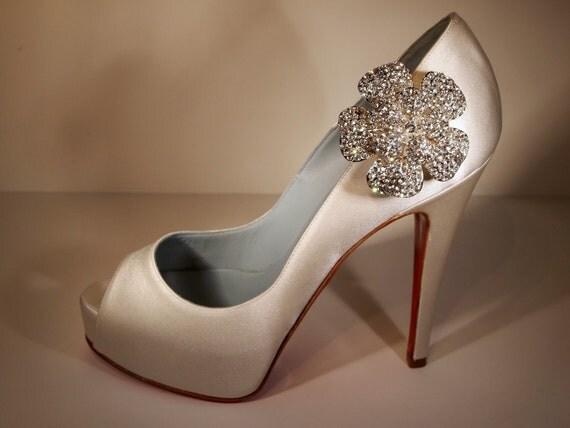 Bijou Crystal Shoe Clip on a Louboutin