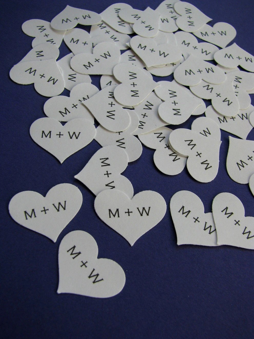 personalized paper heart confetti - pure white