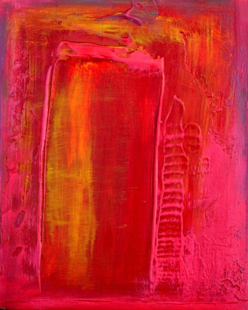 New Red Painting Spring Art Sale - Japanese Sunset (3/4)