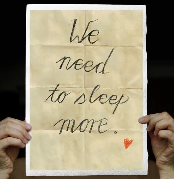 we need to sleep more poster typography etsy froschkind
